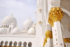 Jeque Zayed Mosque en Abu Dhabi Imagenes de archivo