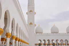 Jeque Zayed Mosque en Abu Dhabi Fotografía de archivo