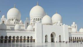 Jeque Zayed Mosque en Abu Dhabi metrajes