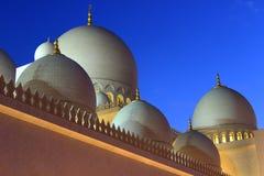 Jeque Zayed Mosque en Abu Dhabi Fotos de archivo libres de regalías