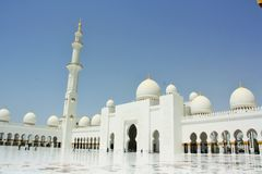 Jeque Zayed Mosque en Abu Dhabi, United Arab Emirates Foto de archivo