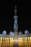 Jeque Zayed Mosque en la noche Foto de archivo