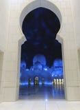 Jeque Zayed Mosque en la noche, Abu Dhabi Imágenes de archivo libres de regalías