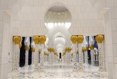 Jeque Zayed Mosque en la noche, Abu Dhabi Fotos de archivo