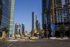 Jeque Zayed Road, Dubai fotografía de archivo libre de regalías
