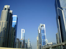 Jeque Zayed Road en Dubai fotos de archivo libres de regalías