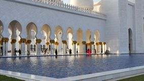 Jeque Zayed White Mosque almacen de video