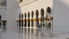 Jeque Zayed White Mosque almacen de metraje de vídeo