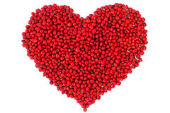 Jequirity seeds. Colorful of  the jequirity seeds Royalty Free Stock Photography