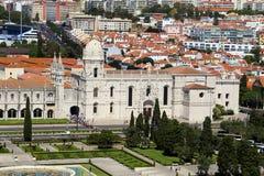 Jerà ³ nimos修道院在里斯本,葡萄牙 库存图片