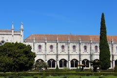 Jerà ³ nimos修道院的看法在里斯本,葡萄牙 免版税库存照片