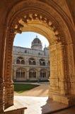 Jerà ³ nimos修道院,贝拉母,葡萄牙,冬天2014年 免版税库存图片