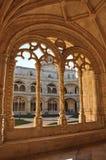 Jerà ³ nimos修道院,贝拉母,葡萄牙,冬天2014年 免版税图库摄影