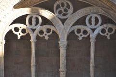 Jerà ³ nimos修道院,贝拉母,葡萄牙,冬天2014年 库存照片
