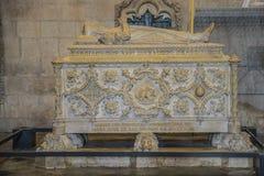 Jerónimos Monastery (Mosteiro dos Jerónimos) Neomanueline tomb Royalty Free Stock Image