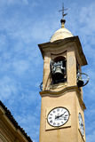 jerago old abstract in  italy   and church tower bell sunny day Royalty Free Stock Photos