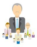 Jerarquía/autoridad del negocio ilustración del vector