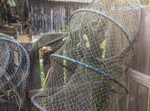 Jerarquía de la pesca en el delta de Danubio Fotos de archivo