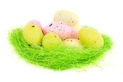 Jerarquía de Pascua con los huevos Imagenes de archivo