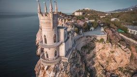 Jerarquía famosa del ` s del trago del castillo en la roca almacen de metraje de vídeo