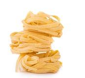 Jerarquía italiana del tagliatelle de las pastas Foto de archivo libre de regalías