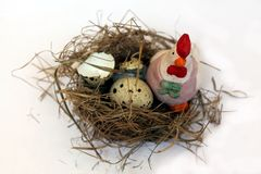 Jerarquía y huevos del pájaro Imagen de archivo