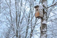 Jerarquización-caja en invierno imagen de archivo
