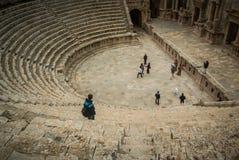 jerash Иордан угла амфитеатра широко Стоковое Изображение RF