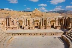 Jerash antiguo Jordan South Theater Foto de archivo libre de regalías