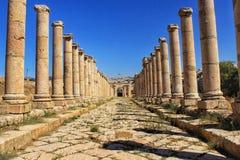 Jerash a cidade de troca antiga de Gerasa fotografia de stock