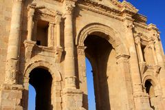 Jerash city, Jordan. Ruins of the Roman city of Gerasa, Jerash, Jordan Stock Image