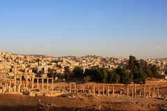 Jerash city, Jordan. Ruins of the Roman city of Gerasa, Jerash, Jordan Royalty Free Stock Images