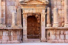 Jerash city, Jordan. Ruins of the Roman city of Gerasa, Jerash, Jordan Stock Images