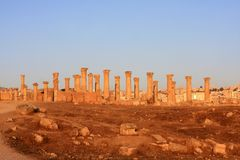 Jerash city, Jordan. Ruins of the Roman city of Gerasa, Jerash, Jordan Stock Photography