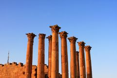 Jerash city, Jordan. Ruins of the Roman city of Gerasa, Jerash, Jordan Stock Photo