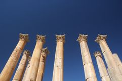 Jerash - colomnade Royalty Free Stock Photography
