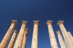 Jerash - colomnade Royalty Free Stock Photography