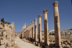 Jerash Columns Stock Photo