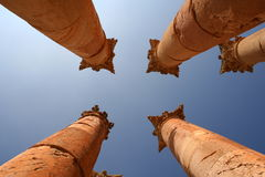Jerash Colums Stock Foto's