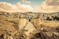 Jerash fördärvar Arkivfoto