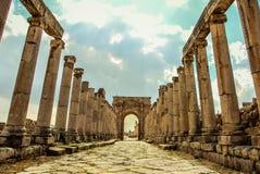 Jerash fördärvar Arkivbilder