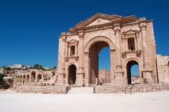 Jerash, Gerasa древности, провинции Jerash, Джордана, Ближний Востока Стоковое Изображение RF