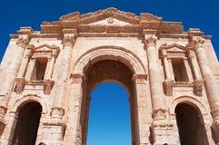 Jerash, Gerasa древности, провинции Jerash, Джордана, Ближний Востока Стоковое Изображение