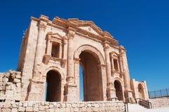 Jerash, Gerasa древности, провинции Jerash, Джордана, Ближний Востока Стоковые Изображения RF