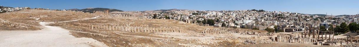 Jerash Gerasa dawność, Jerash Governorate, Jordania, Środkowy Wschód Obrazy Stock
