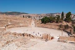Jerash, Gerasa van Antiquiteit, Jerash-Gouvernement, Jordanië, Midden-Oosten royalty-vrije stock afbeeldingen