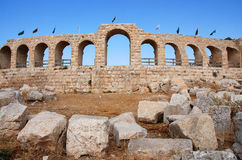 Jerash hippodrome exterior royalty free stock photography