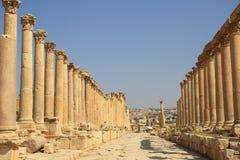 Jerash i Jordanien Arkivfoton