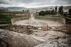 Jerash, Jordan. Ancient ruins of the biggest archeological roman site in Asia Stock Photo