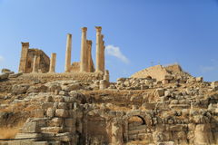 Jerash in Jordan. Is the grandeur of Imperial Rome being one of the largest and most well preserved sites of Roman architecture in the World outside Italy. To Stock Photos